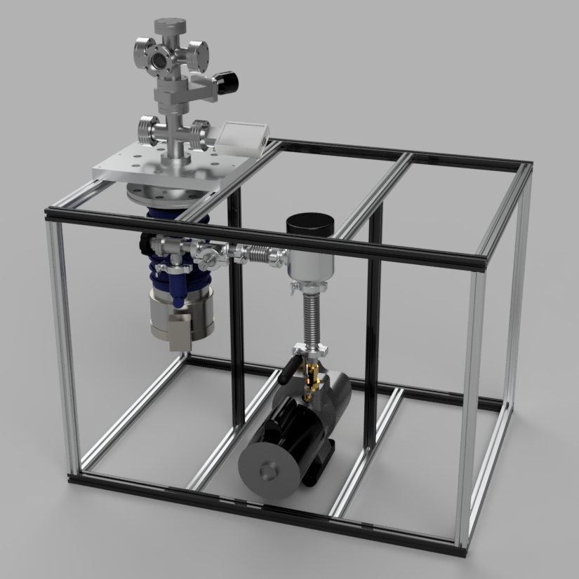 Small Scale Multipurpose High Vacuum Chamber Conflat Table Assembly