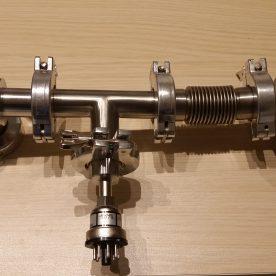 High Vacuum System V4 Foreline Assembled