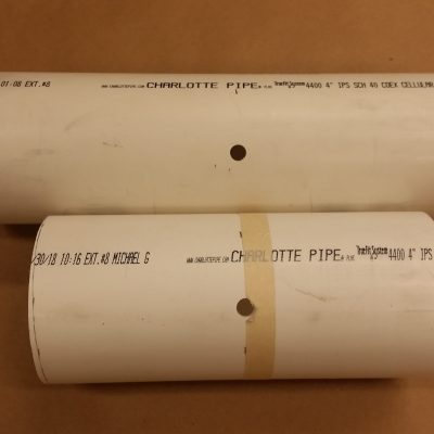 4in PVC Pipe with Thermocouple Hole