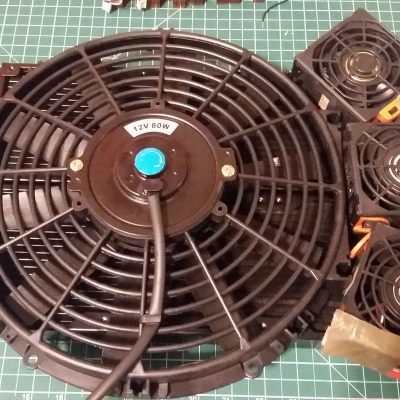 Cooling Fans Mounted on Aluminum Heat Exchangers