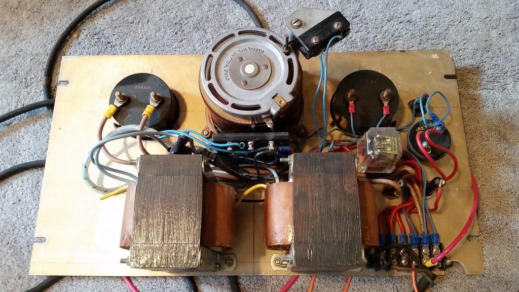 Electron Gun Filament Adjustable Power Supply - Transformers, Meters, and Variac
