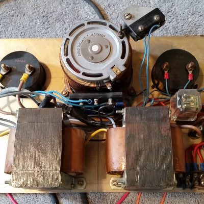 Electron Gun Filament Adjustable Power Supply - Transformers, Meters, and Variac
