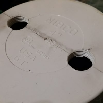 Primary PVC Tank Top Cap Tapped