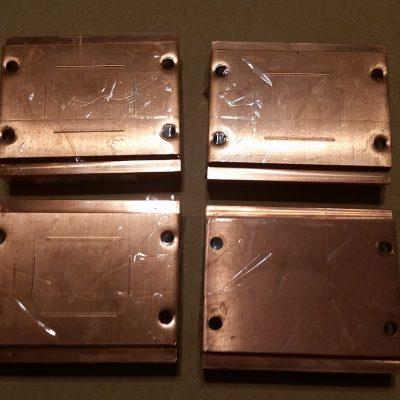 Peltier Chiller Step 1 - Taping Copper Block Holes