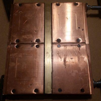 Peltier Chiller Step 11 - Epoxy Brass Reinforcement Bar
