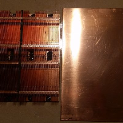 Peltier Chiller Step 12 - Laying Out Copper Baseplate