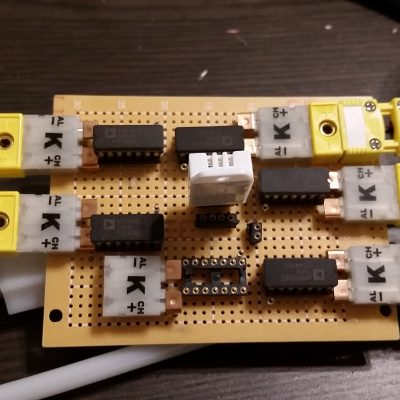 Thermocouple Testing with Adapter Plugs and Amplifier Board