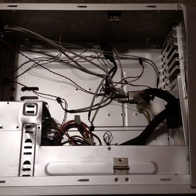Computer Case for Control System Housing Without Cover