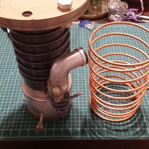 Peltier Chiller Test - Mock Diffusion Pump Thermal Load Copper Coil