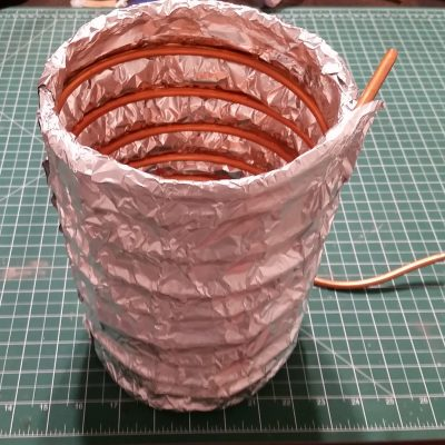 Peltier Chiller Test - Mock Diffusion Pump Thermal Load Copper Coil Wrapped