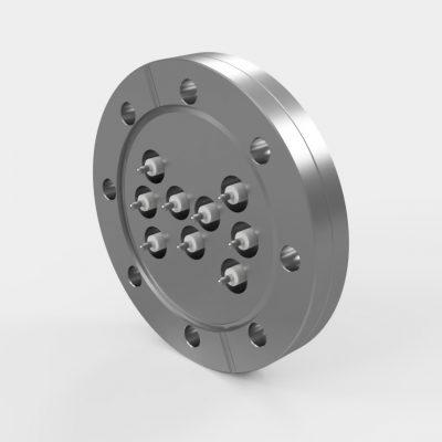 "4.5"" Conflat Custom 9-Pin Feedthrough"