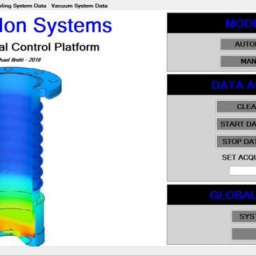 Control System Start Screen