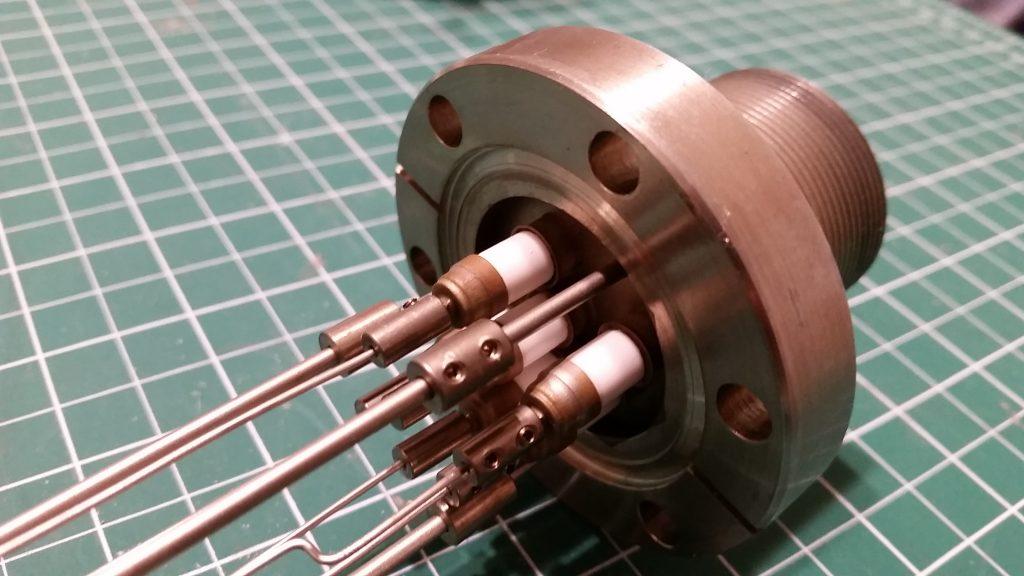 Custom 6-Pin High Voltage Conflat Feedthrough