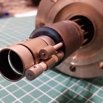 Electron Gun Assembly Lens Close-Up