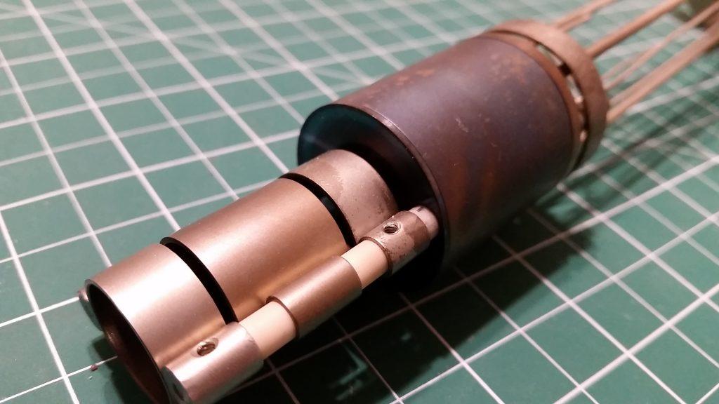 Electron Gun Assembly Lens Close-Up 2