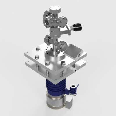 2,75in Conflat High Vacuum Chamber V5 and Pumping Assembly