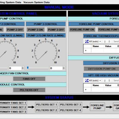 Control System Manual Mode Screen