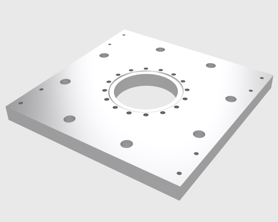 ISO160 Diffusion Pump to 6in CF Knife Edge with Mounting Holes