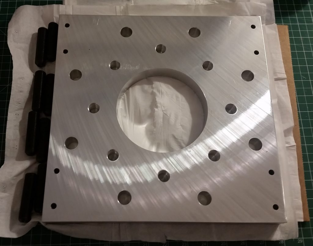 High Vacuum Bottom Plate Assembly 1