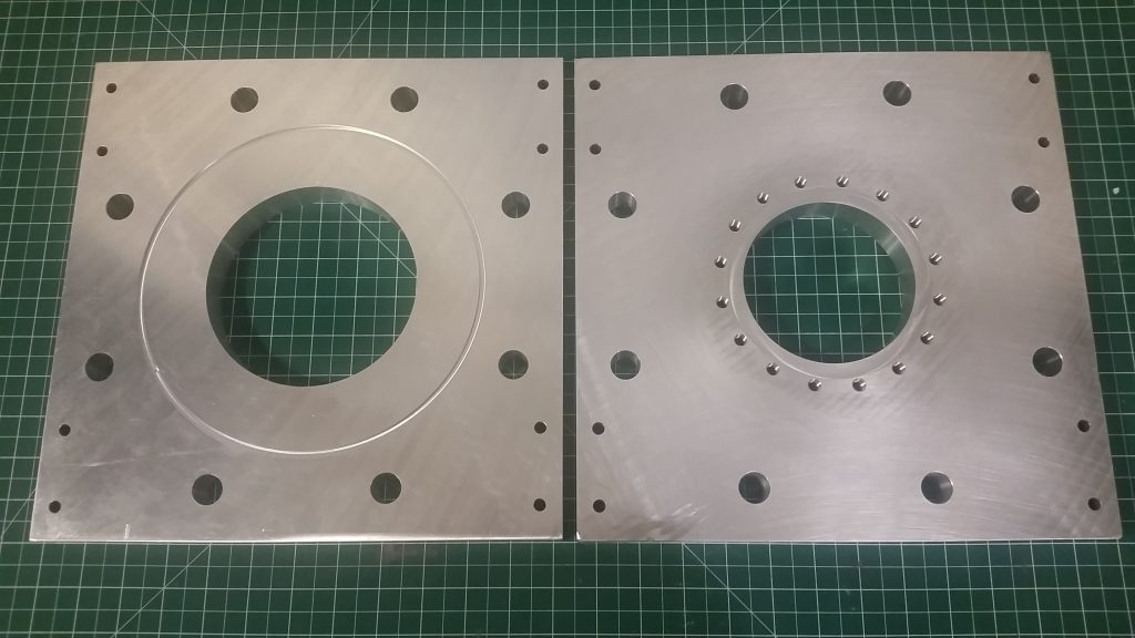 High Vacuum Test Stand Aluminum Adapter Plates - Top