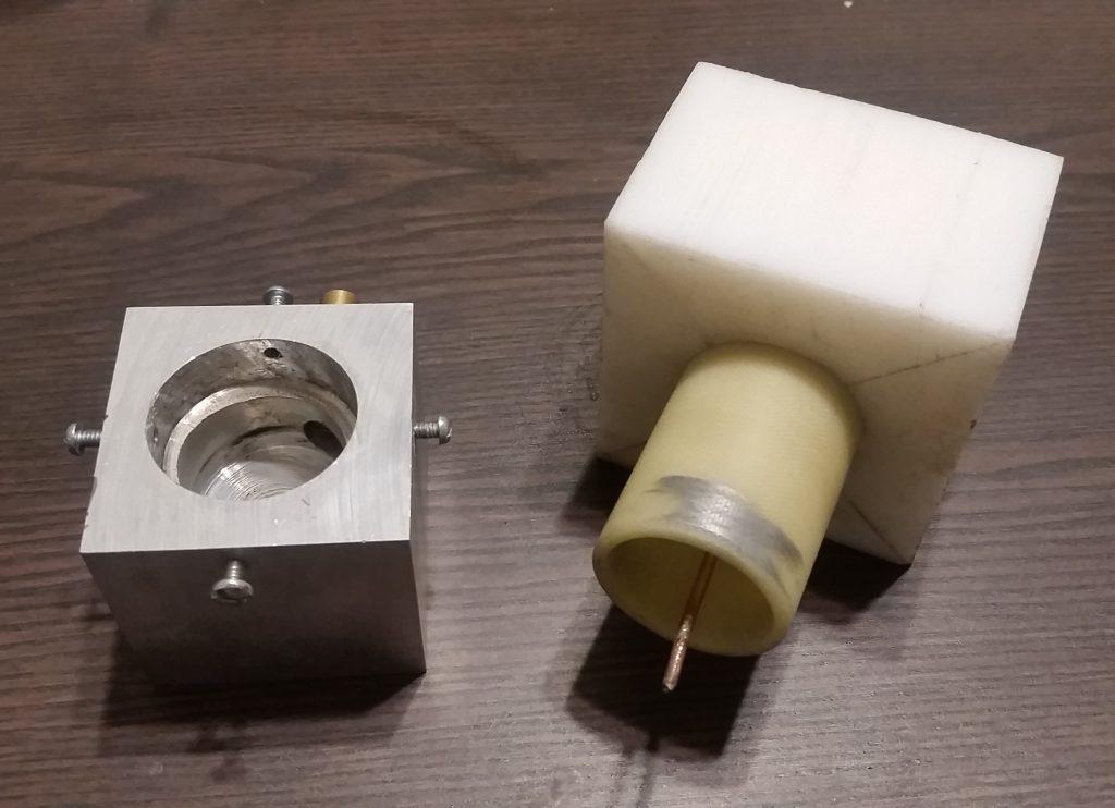 Vortex Stabilized Gliding Arc Electrode Dissassembled