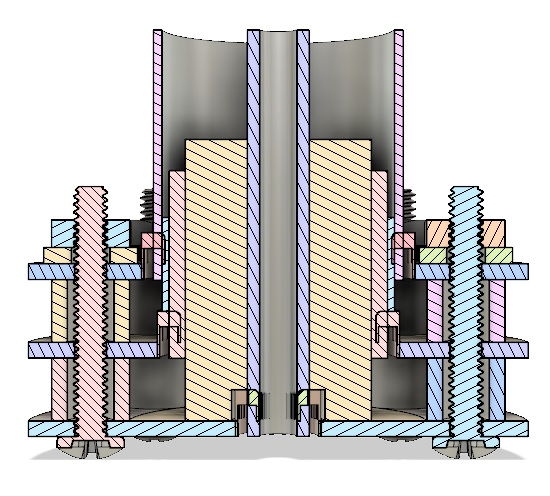 AIS-uPPT1 Micro Pulsed Plasma Thruster - Final Assembly Cross Sectional View