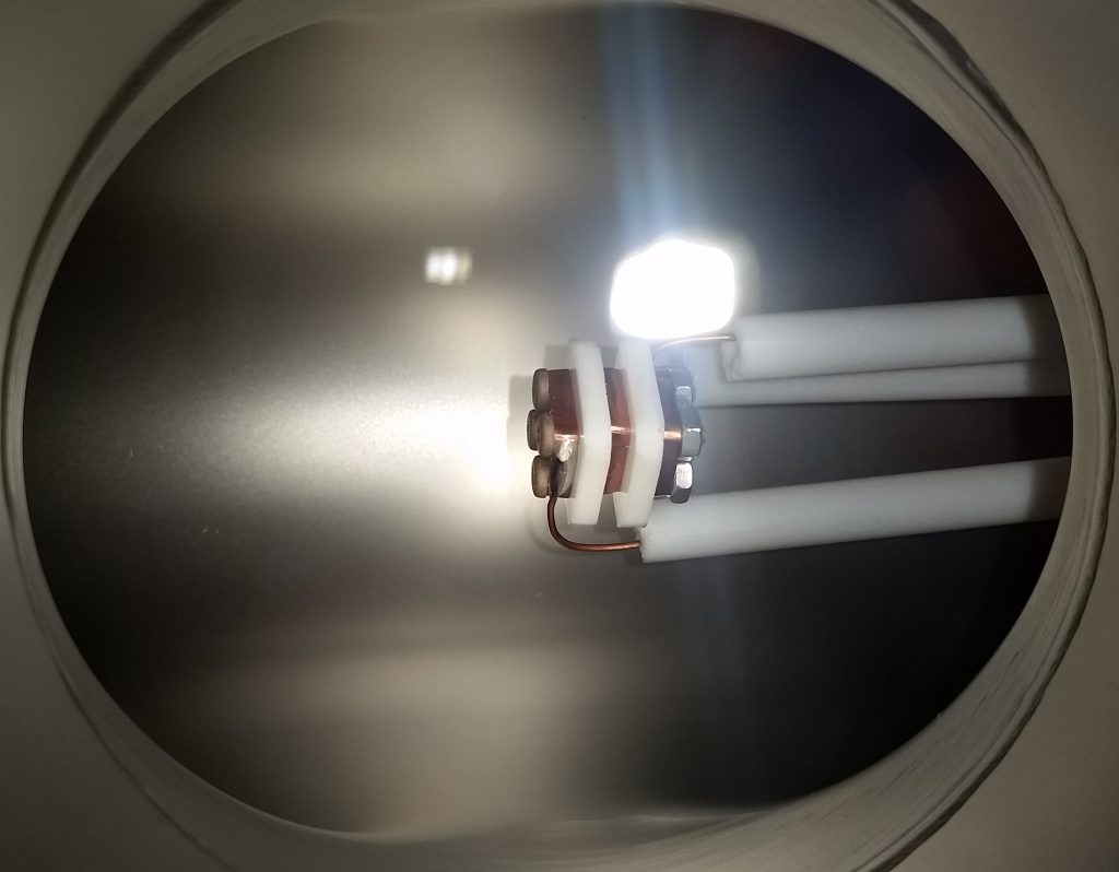AIS-gPPT2-1C Gridded Pulsed Plasma Thruster Mounted in High Vacuum Chamber