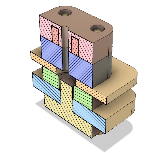 AIS-gPPT3-1C-BT V2 - Cross Sectional View Isometric