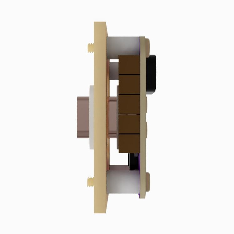AIS-gPPT3 Series Concept Propulsion Module with Adapter Mounting Plate - Side