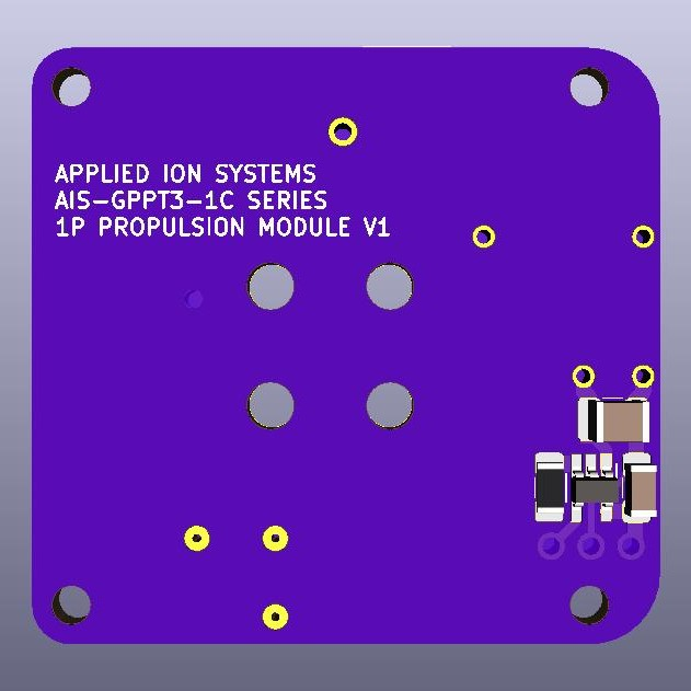 AIS-gPPT3-1C Series Propulsion Module 1P Board V1 - Back