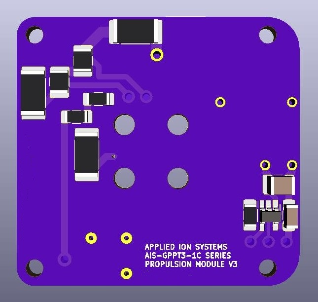 AIS-gPPT3-1C Series Propulsion Module 1P Board V3 - Back Simple