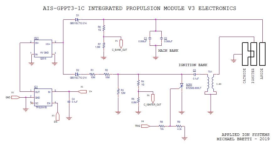 AIS-gPPT3-1C Integrated Propulsion Module V3 Electronics
