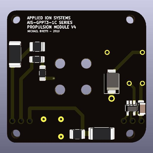 AIS-gPPT3-1C Series Propulsion Module V4 Board - Back