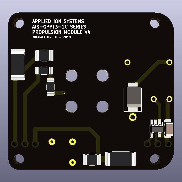 AIS-gPPT3-1C Series Propulsion Module V4 Board - Back