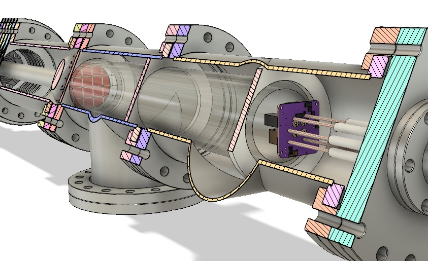 EXEDA Preliminary Acrylic Insulator Assembly - Cross Section with Propulsion System