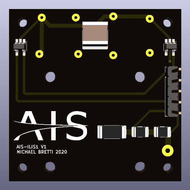 AIS-ILIS1 V1 PCB - Back