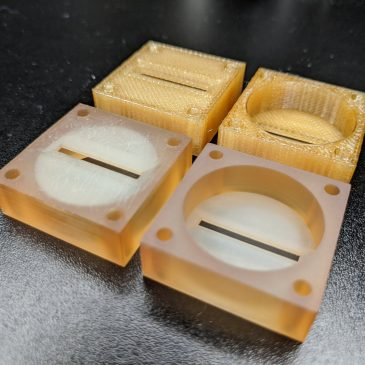 First Set of 3D Printed Cases for the AIS-ILIS1 Electrospray Thruster