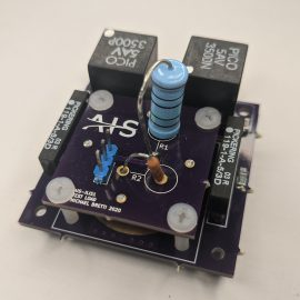 AIS-ILIS1 Electrospray Thruster V4 Board with Test Load Assembly Front