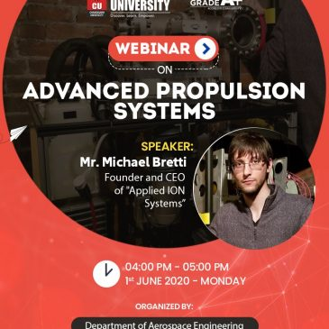 AIS as Invited Guest Lecturer for Chandigarh University Webinar on Advanced Propulsion Systems!
