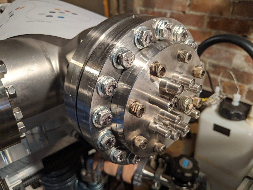 AIS-ILIS1 Electrospray Thruster Testing Input Feedthrough