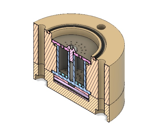 AIS-ADAMANT Fuel Sublimation Tank 0,5in Capacity V1 FINAL - Cross-Section Isometric