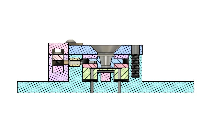 AIS-EHT1 Micro End Hall Thruster Head Cross-Section
