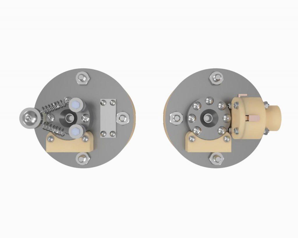 AIS-EHT1 Micro End Hall Thruster Render - Hollow Cathode vs Filament Top