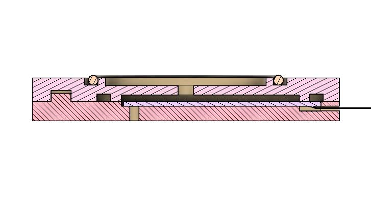 AIS-PFV1 Piezo Fuel Valve Cross Sectional View