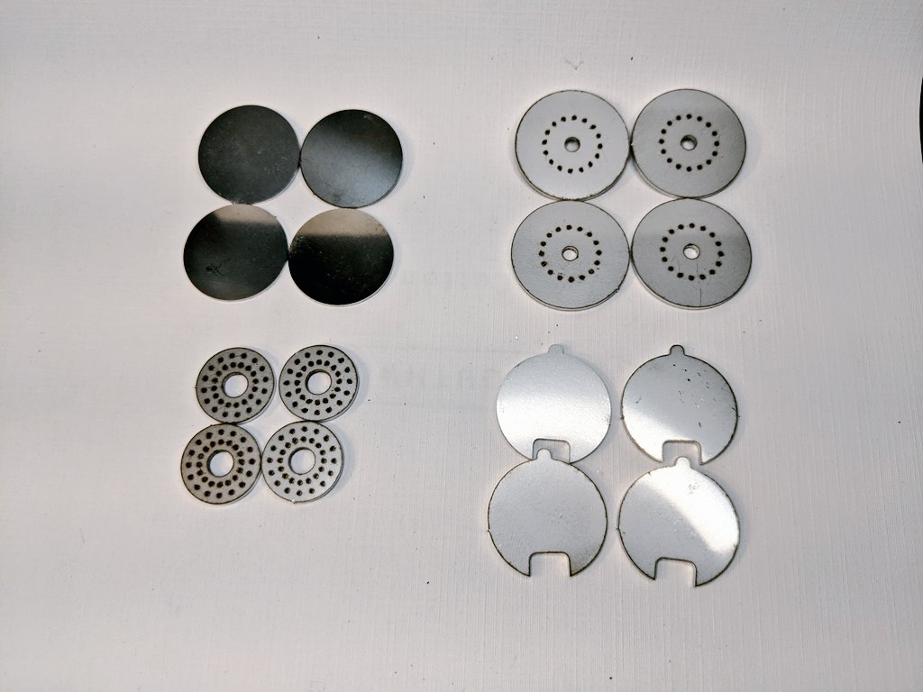 AIS-SFDS Sublimation Fuel Delivery System Stainless Steel Laser Cut Parts