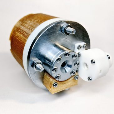 First Complete Assembly of the AIS-EHT1 Micro End-Hall Thruster System for Cubesats