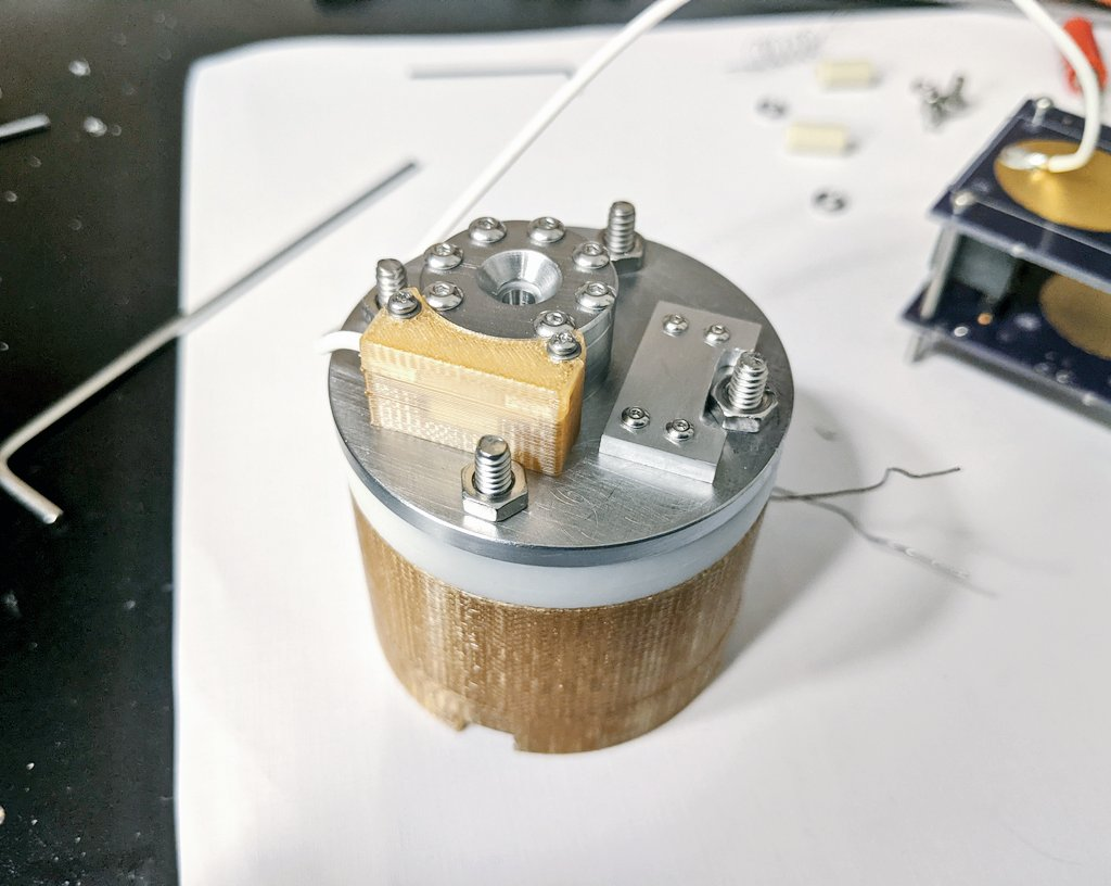 AIS-EHT1 Micro End Hall Thruster - Ignition Test 1 Thruster Assembly