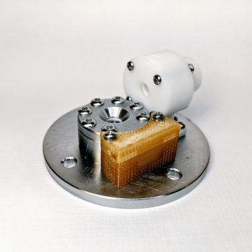 First Preliminary Assembly of the AIS-EHT1 Micro End-Hall Thruster Head