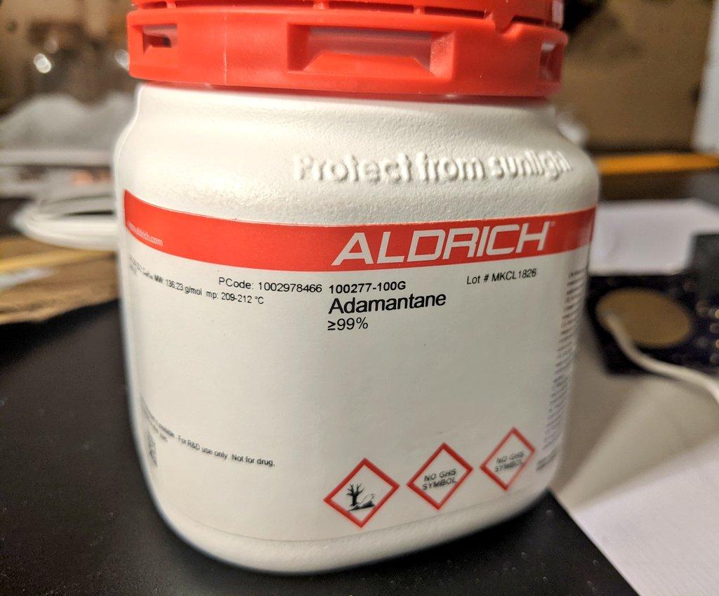 Adamantane Sublimation and Glow Discharge Ionization Test 1 - Adamantane 1
