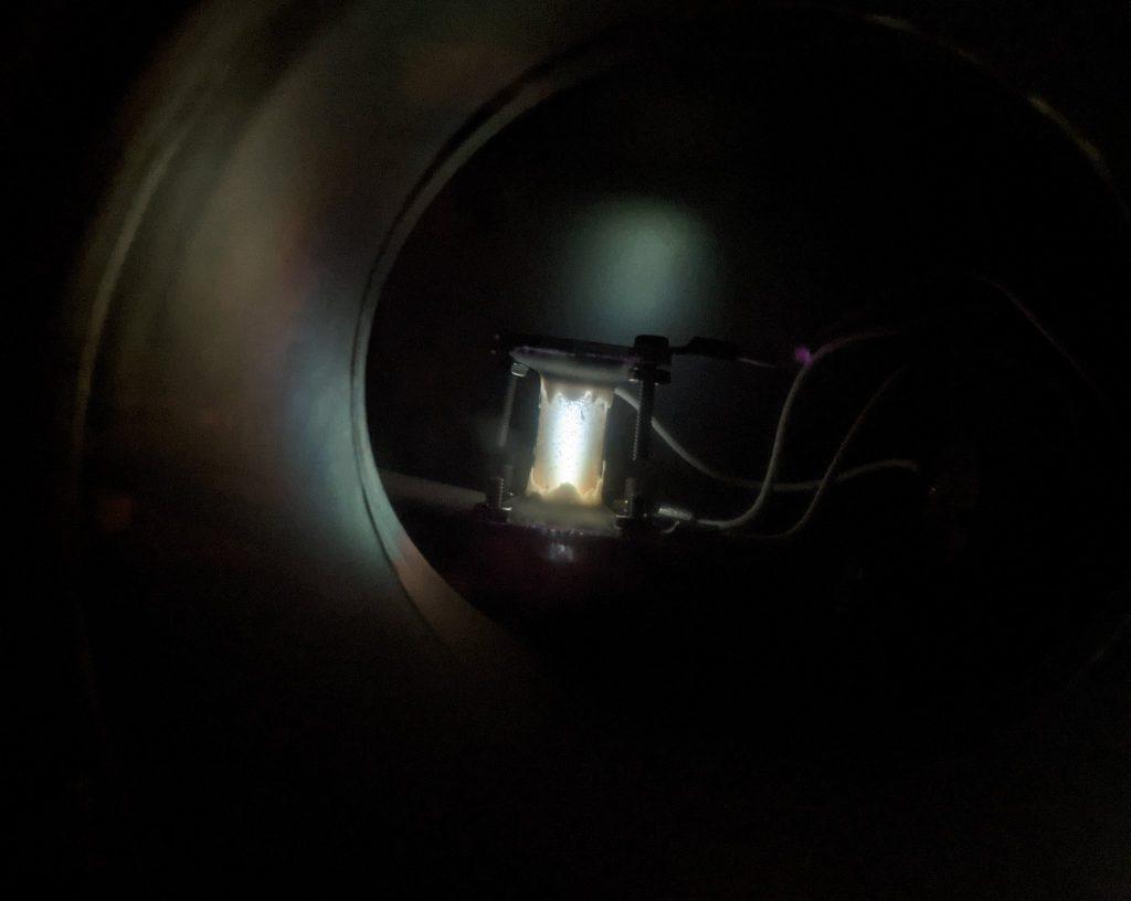 Adamantane Sublimation and Glow Discharge Ionization Test 4 - 2W Adamantane Plasma